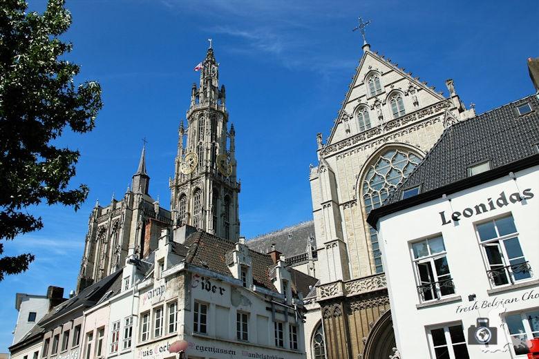 Häuserfassade, Antwerpen, Belgien