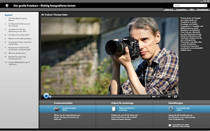 """Video-Training mit Thomas Kuhn """"Der große Fotokurs"""" im Test"""