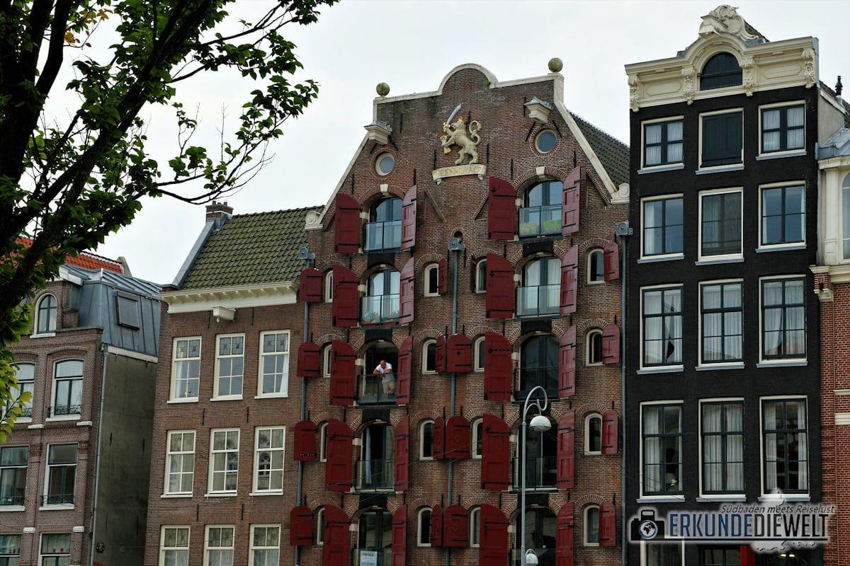 Häuserfassade, Amsterdam, Niederlande