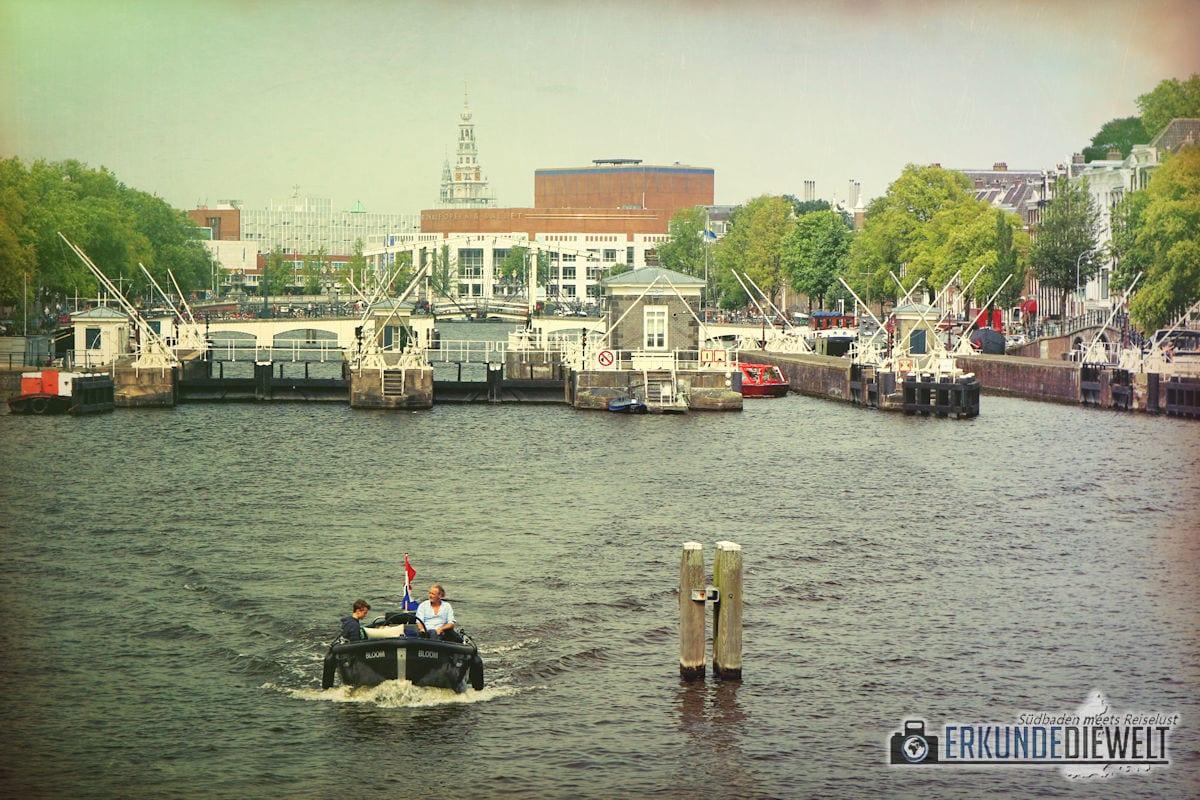 Schleuse, Amsterdam, Niederlande