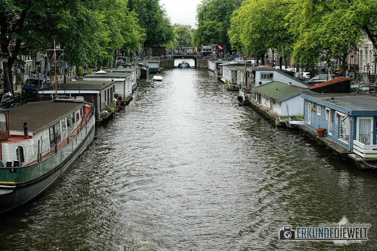 Hausboote, Amsterdam, Niederlande