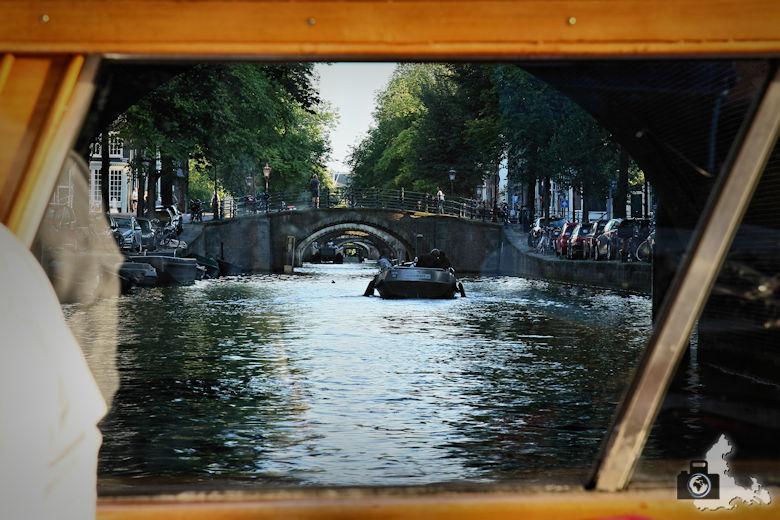 Amsterdam Blick durch 7 Brücken