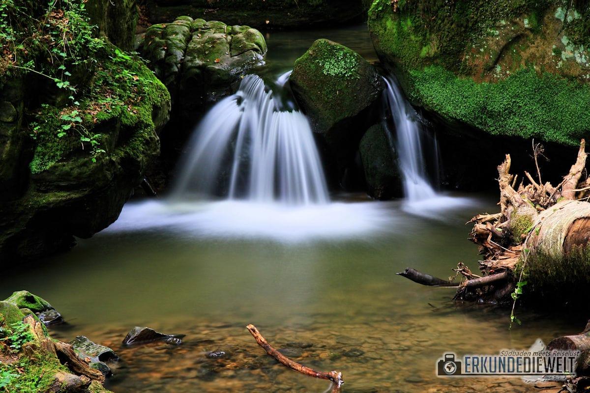 Beispiel für lange Belichtungszeit - Wasserfall