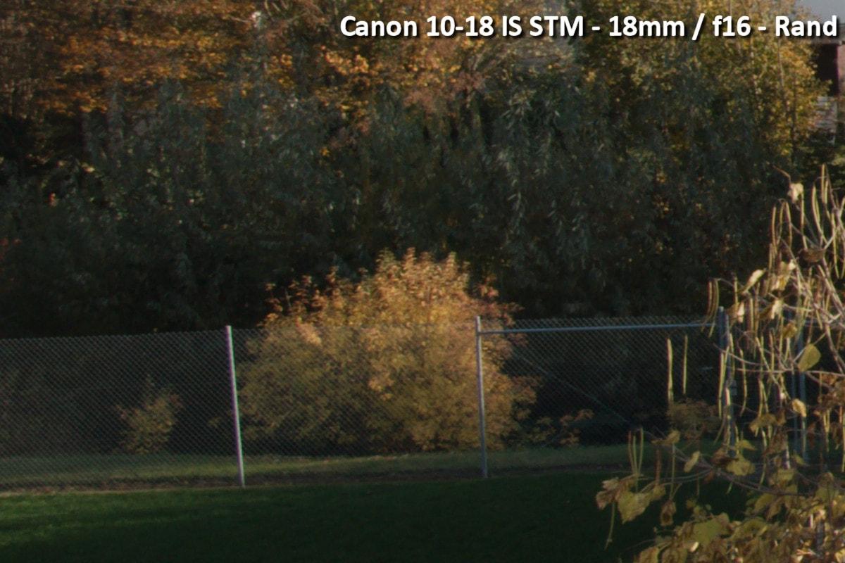 Beispielbild Canon 10-18 IS STM - 18 mm / f16 - Randbereich