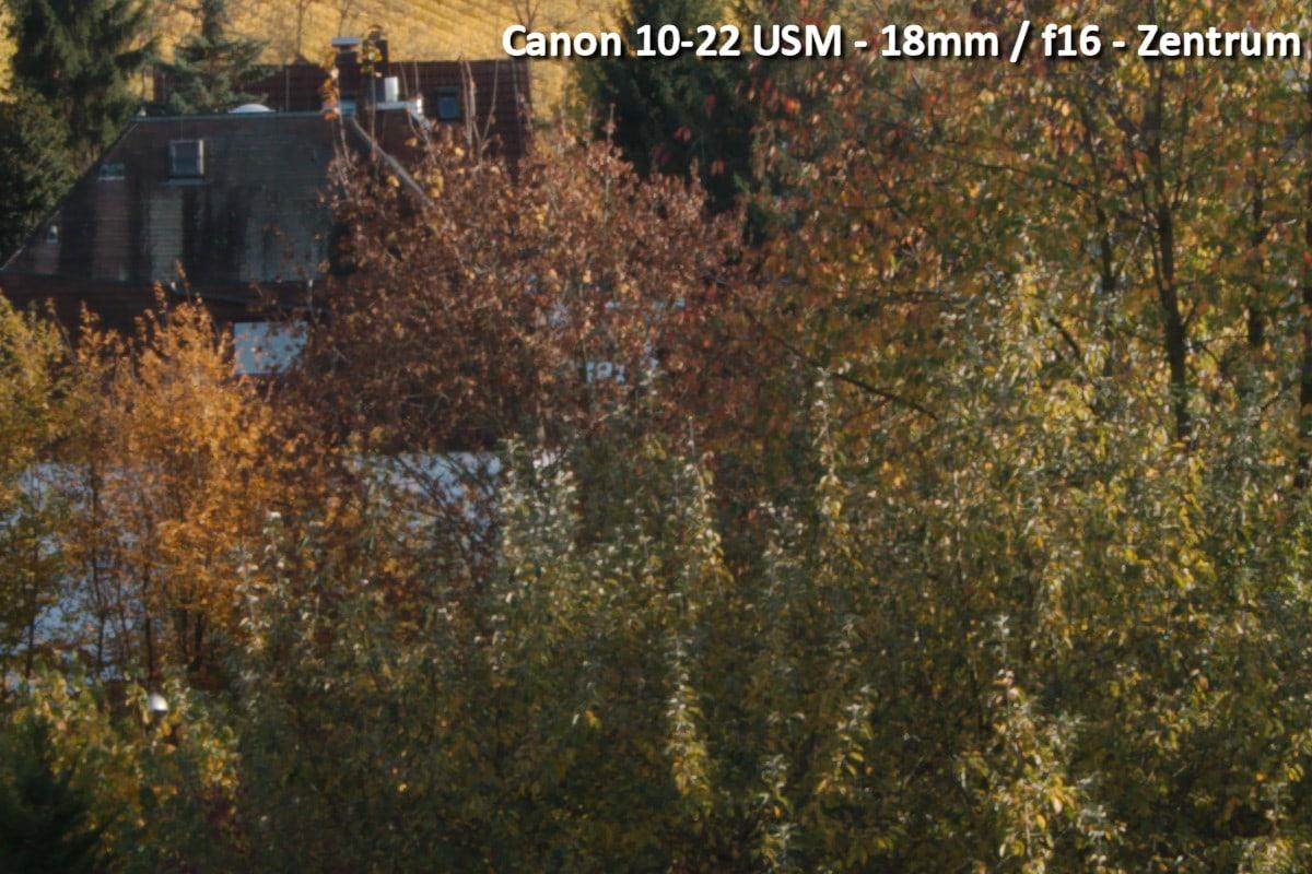 Beispielbild Canon 10-22 USM - 18 mm / f16 - Zentrum