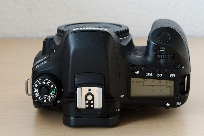 Canon EOS 80D Draufsicht