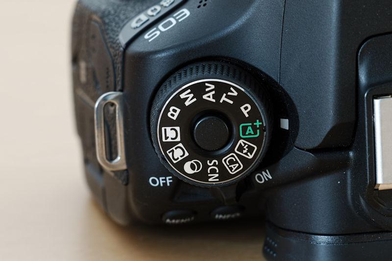 Canon EOS 80D Programmwahlrad