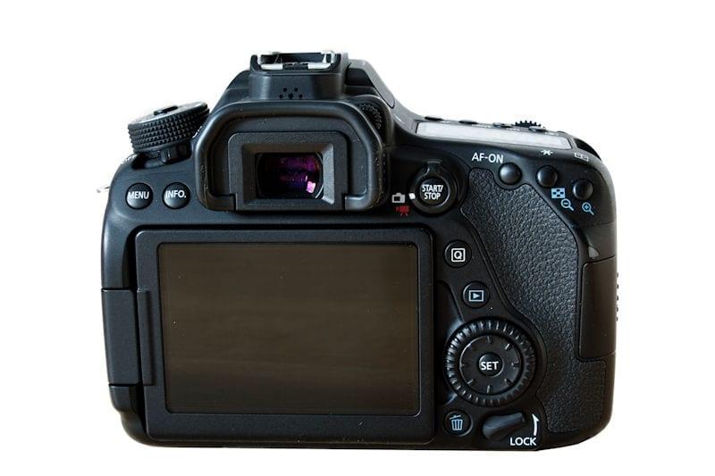 Canon EOS 80D Rückansicht