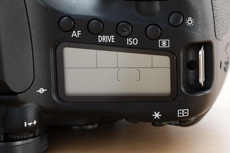 Canon EOS 80D Schulterdisplay