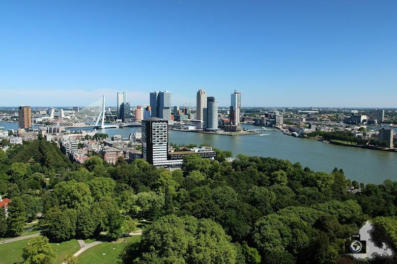 Rotterdam in den Niederlanden - Aussicht vom Euromast