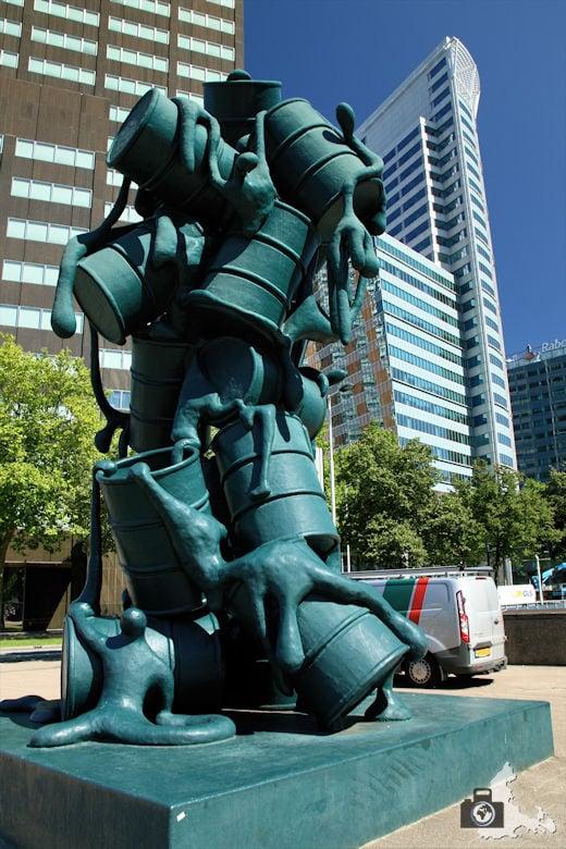Rotterdam in den Niederlanden - Kunstwerk