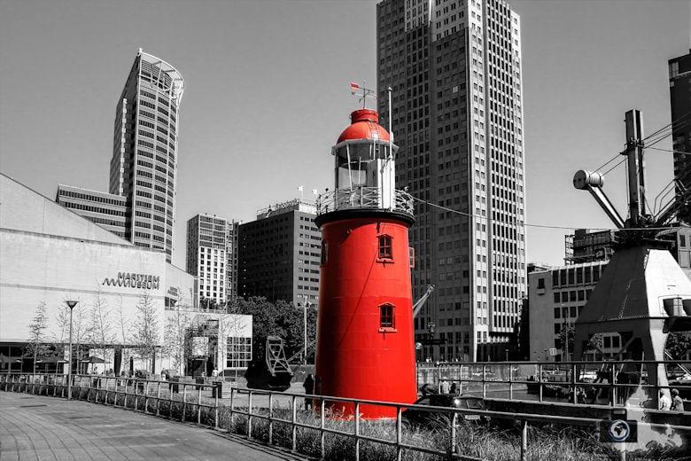 Rotterdam in den Niederlanden - Leuchtturm