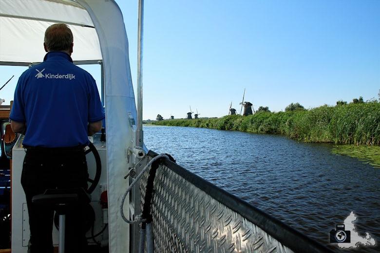 Windmühlen von Kinderdijk in den Niederlanden - Bootsfahrt