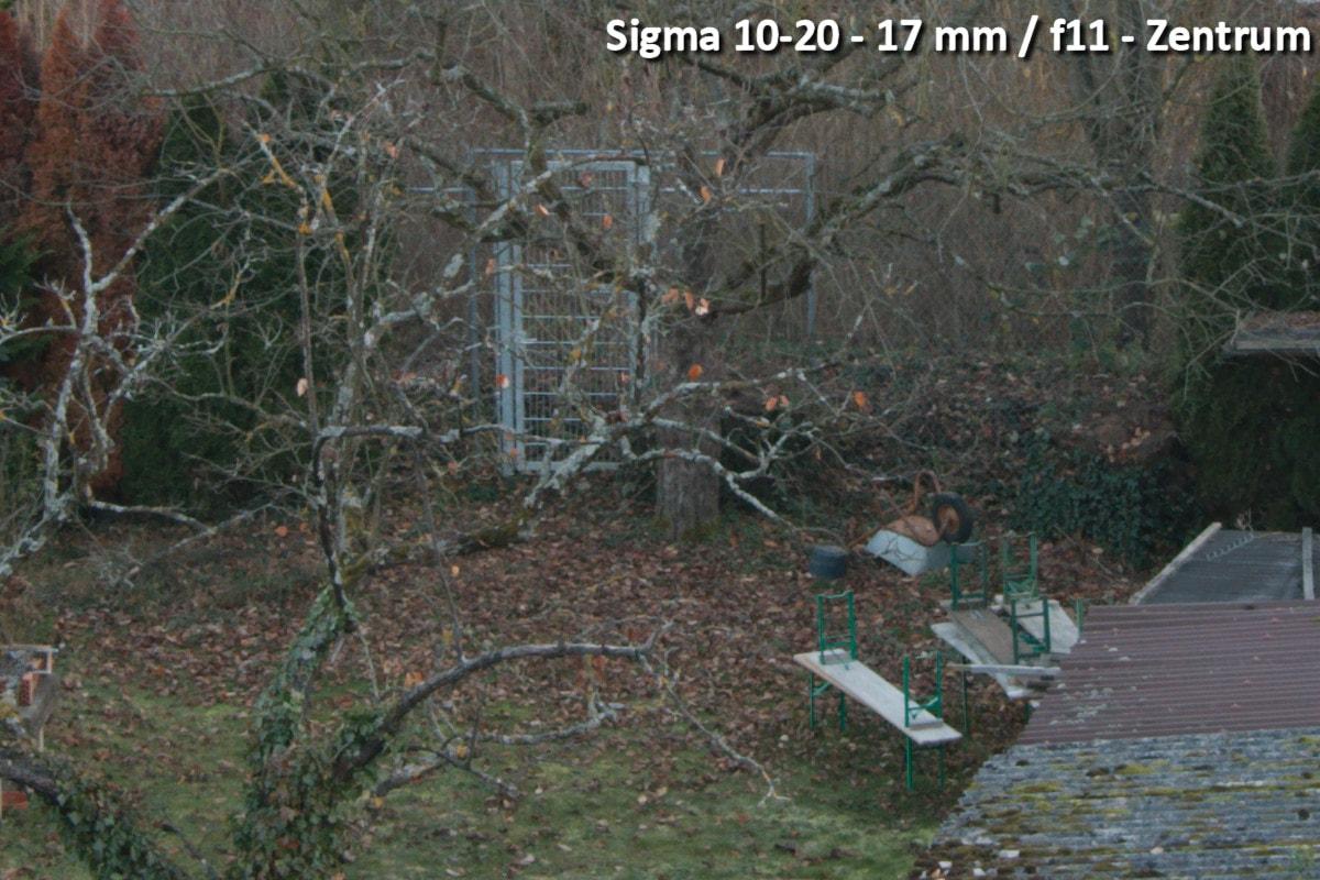 Beispielbild Sigma 10-20 - 17 mm / f11 - Bildmitte