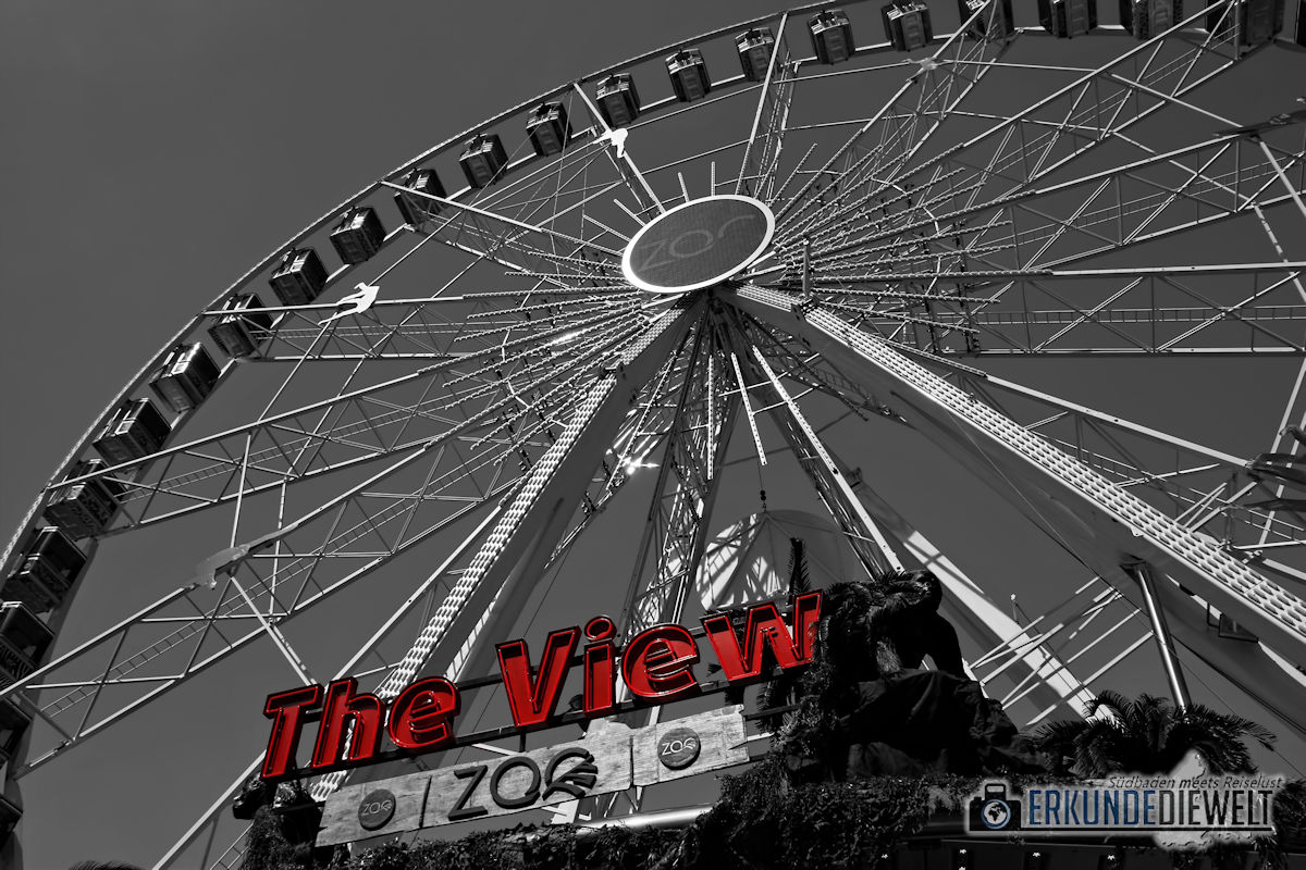 Color-Key Bild - Riesenrad Antwerpen