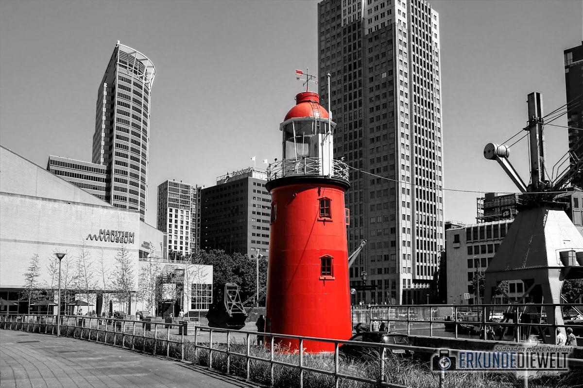 Color-Key Bild - Leuchtturm Rotterdam