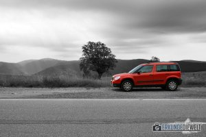 Color-Key Bild - Rotes Auto