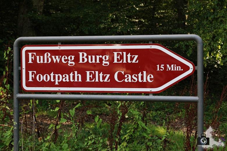 Fußweg zur Burg Eltz