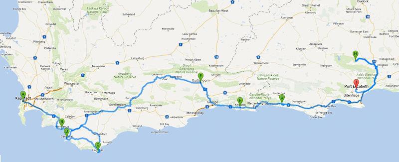 Route Südafrika Etappe 2