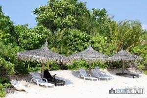Strandliegen, Ukulhas, Malediven