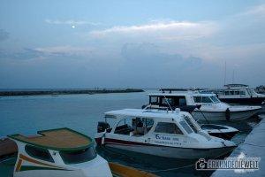 Hafen bei Vollmond, Ukulhas, Malediven