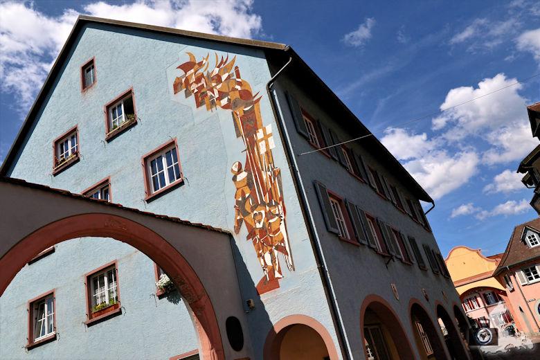 Fotowalk #3 - Ettenheim, Kunst an Häuserfassade