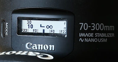 Canon EF 70-300mm 1:4-5,6 IS II USM - Display Mode 3