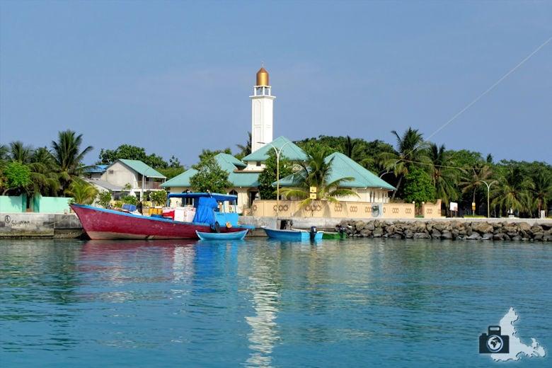 Malediven Strand Ukulhas Hafen