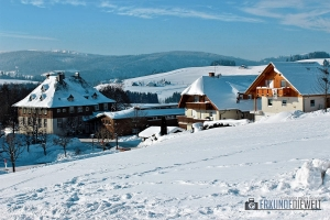 Winter in Breitnau im Schwarzwald, Deutschland