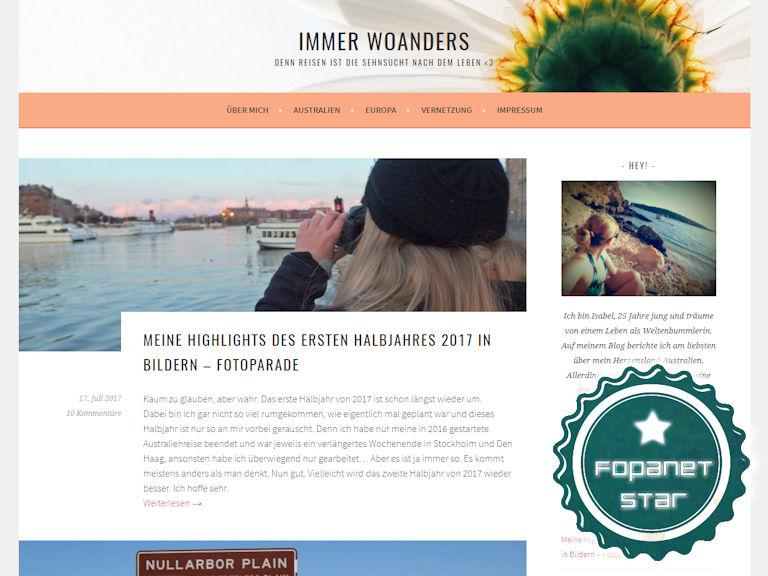 Fopanet Star immerwoanders.com