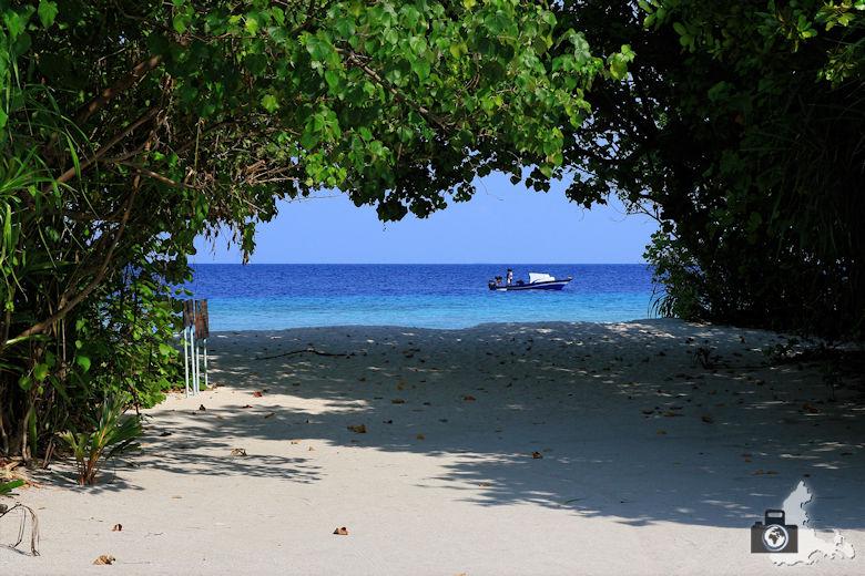 Strandblick, Ukulhas, Malediven