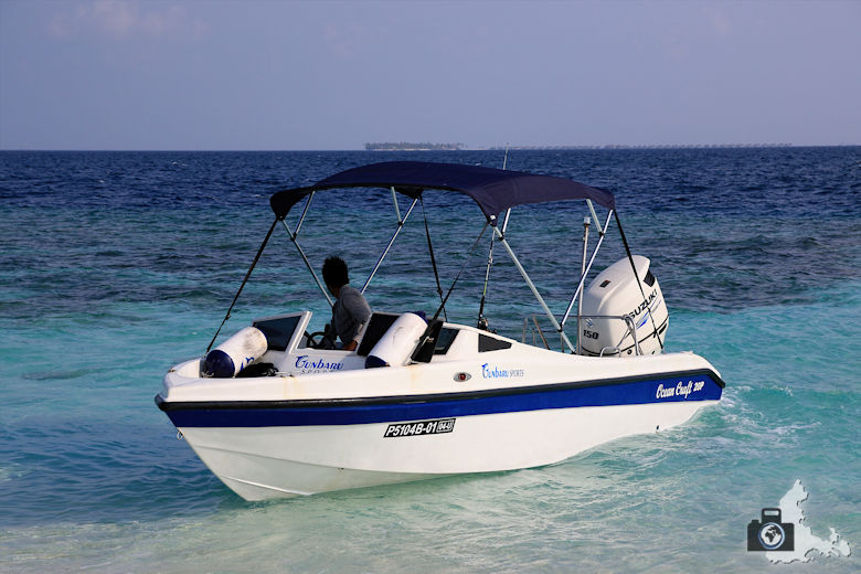 Malediven Ausflugsboot