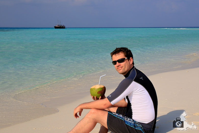 Malediven Michael Sandbank Picknick