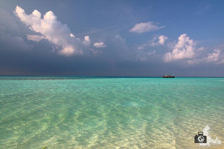 Sandbank auf den Malediven