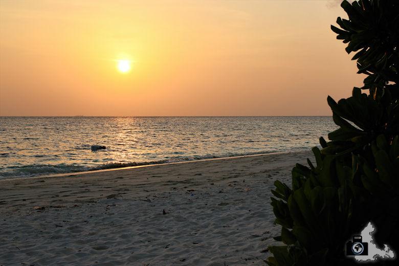 Malediven Ukulhas Abendsonne