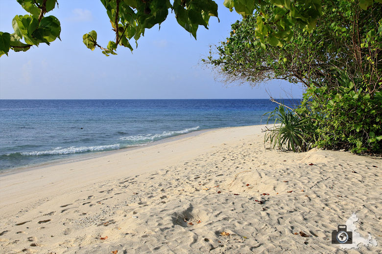 Ukulhas Malediven - Strandblick