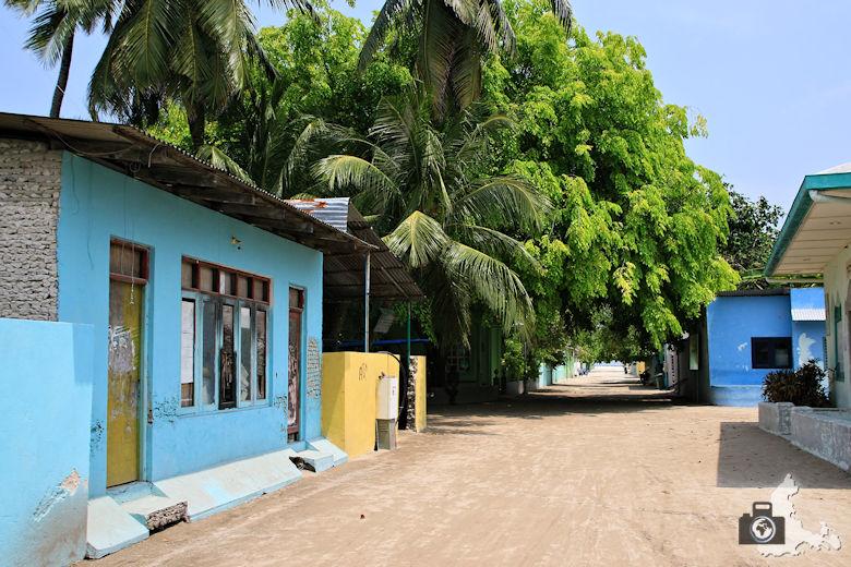 Ukulhas Malediven - Strasse