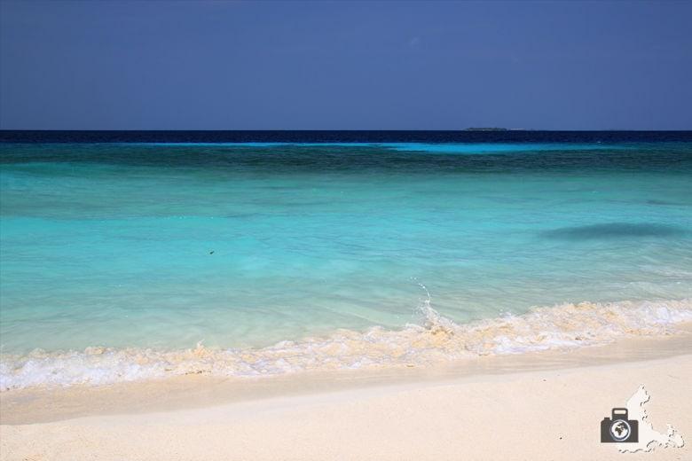 Türkises Meer auf Ukulhas, Malediven