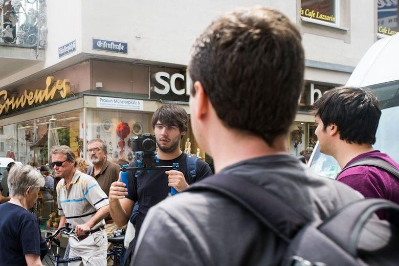 Videodreh mit 1&1 in Freiburg