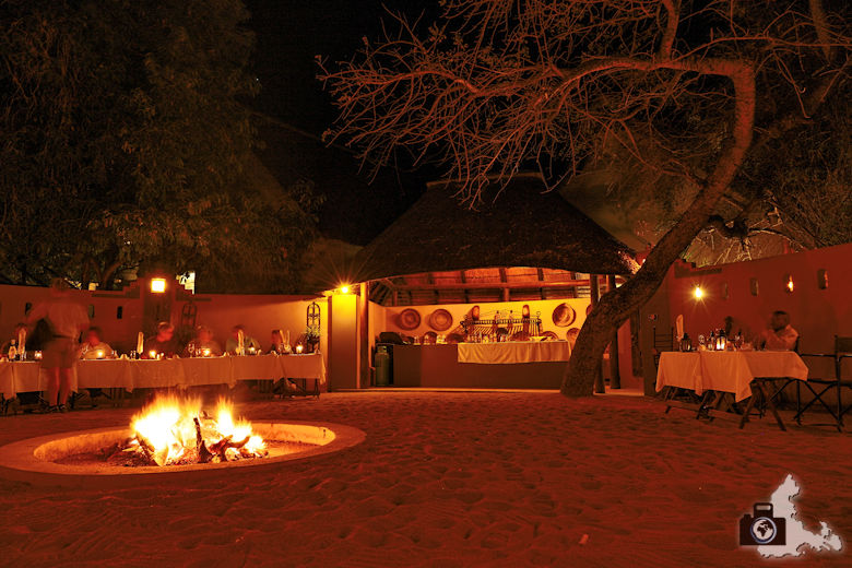 Elephant Plains Lodge im Sabi Sand Game Reserve - Dinner