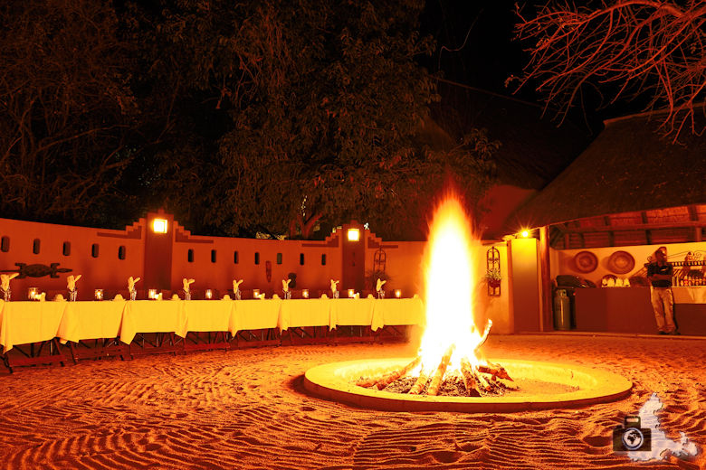 Elephant Plains Lodge im Sabi Sands Game Reserve - Dinner