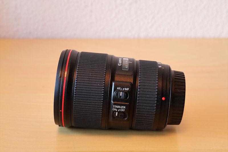 Canon 16-35 L IS USM - Seitenansicht