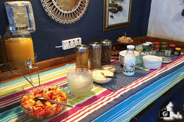 Frühstück in der Saxon Lodge, Gansbaai