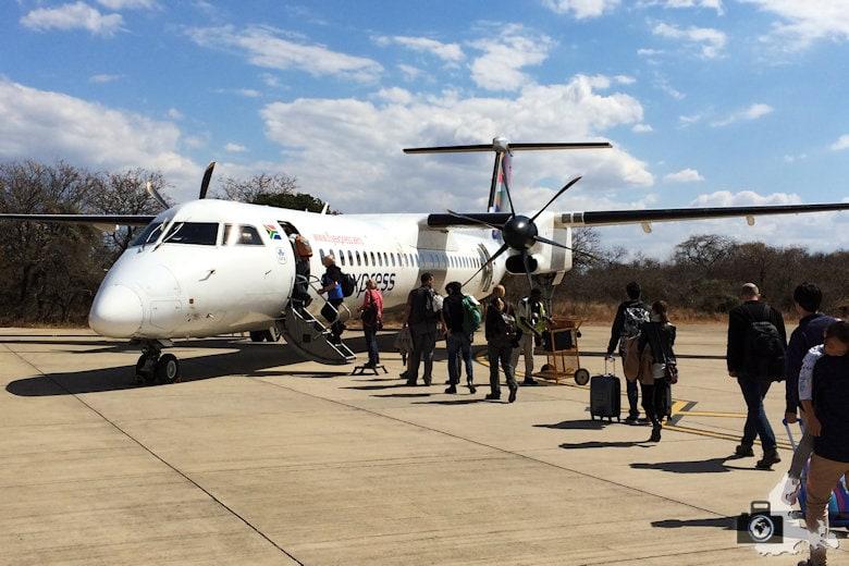 Inlandsflug nach Kapstadt mit der Turbopro Dash 8 der SAA