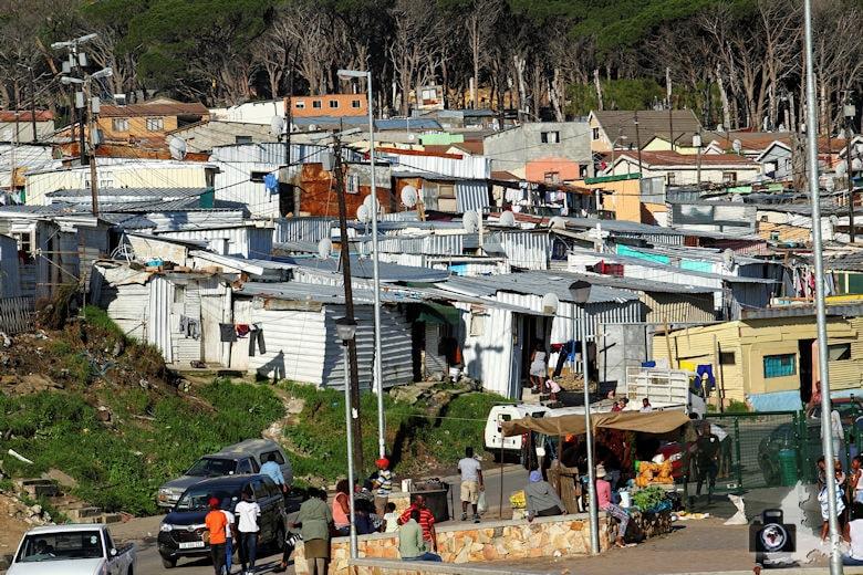 Kapstadt Wellblechhütten in Soweto