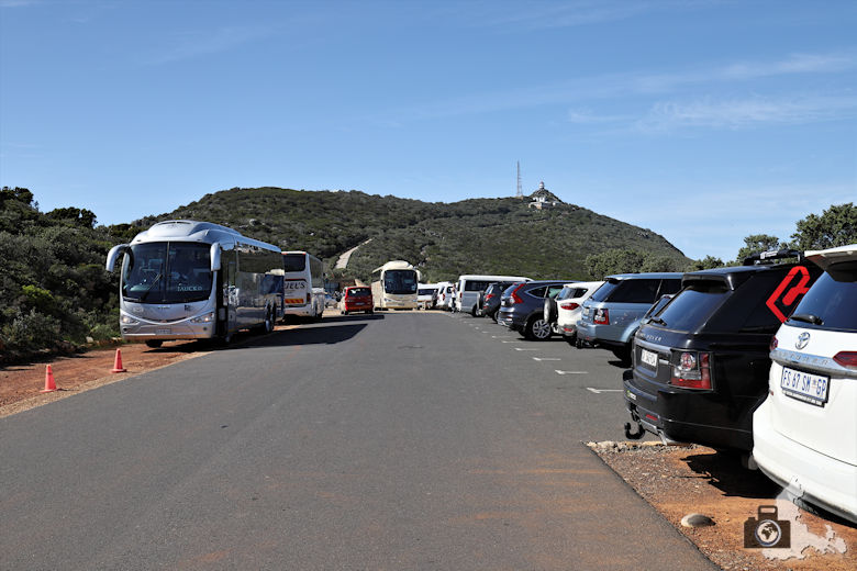 Südafrika - Parkplatz am Cape Point