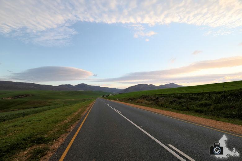 Fahrt über den Akkedis Pass nach Gansbaai