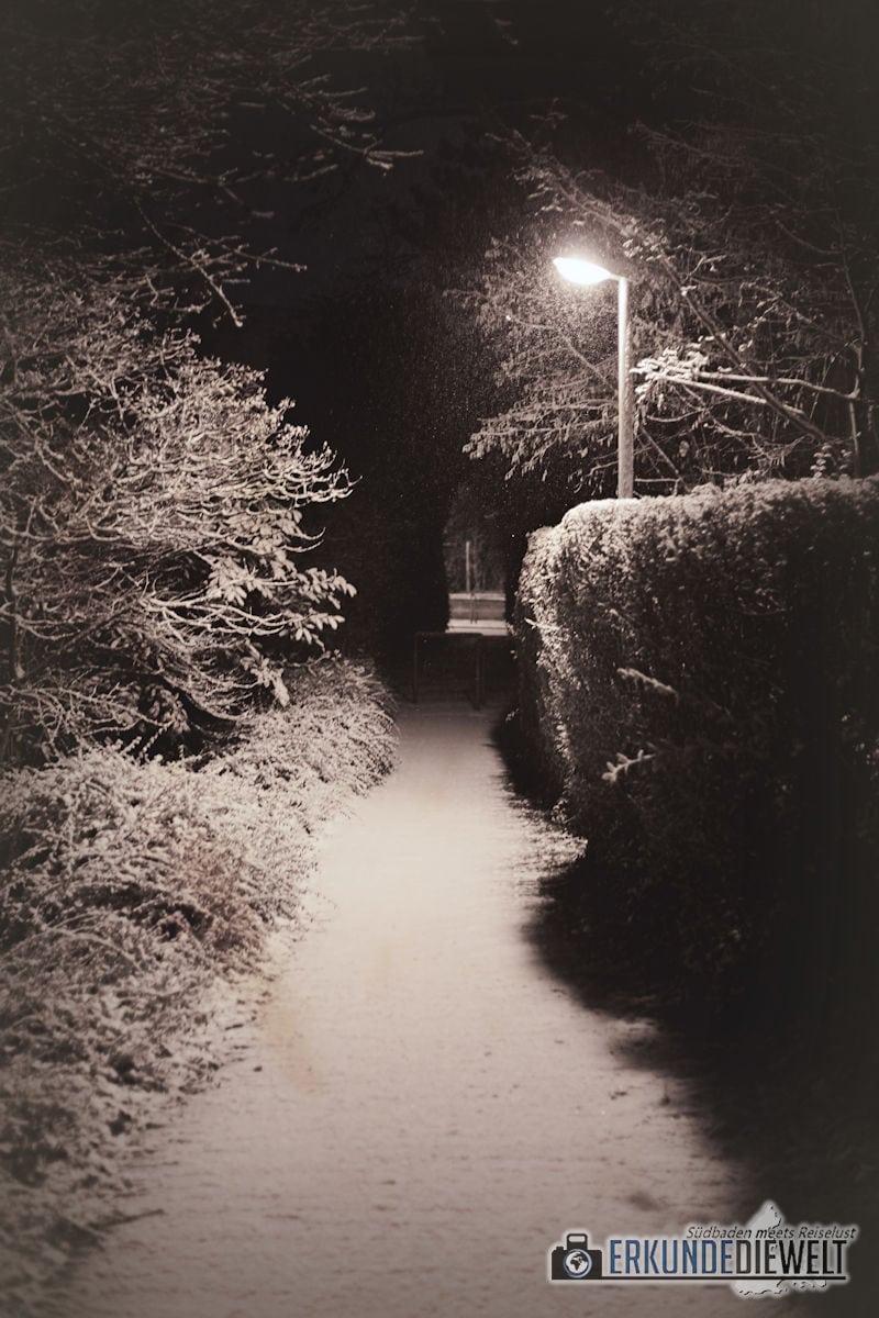 Fotowalk #5 - Winternacht in Freiburg St. Georgen