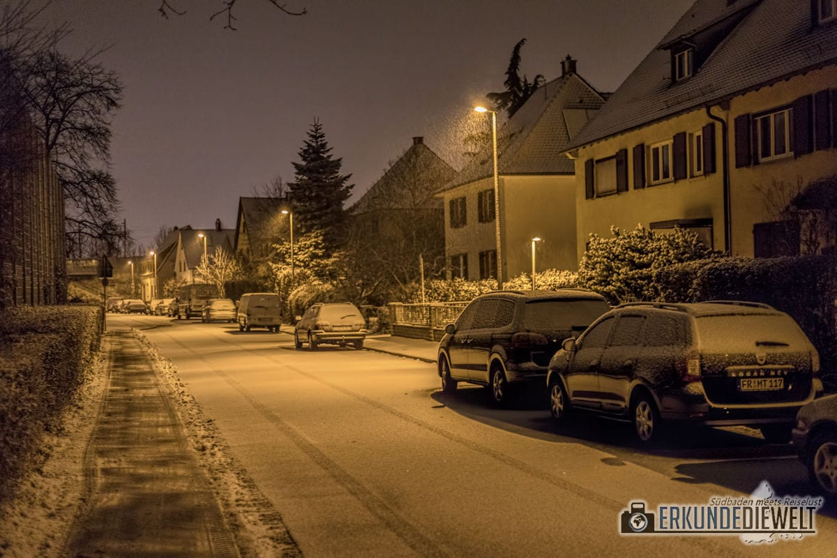Fotowalk #5 - Winternacht in Freiburg St. Georgen