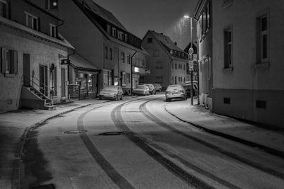 Fotowalk #5 Winternacht in Freiburg St. Georgen